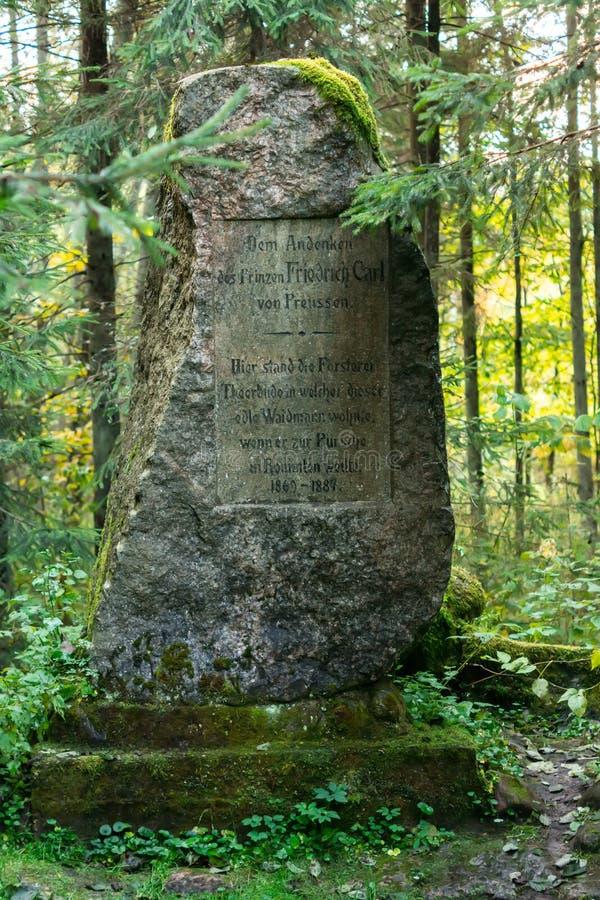 Pedra de Friedrich Carl o príncipe de Prússia imagens de stock