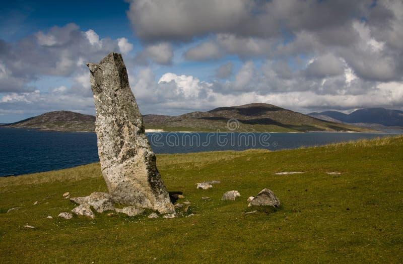 Pedra de MacLeod, Nisabost, Harris, Scotl imagens de stock royalty free