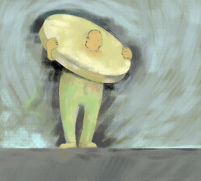 Pedra de moer ilustração stock