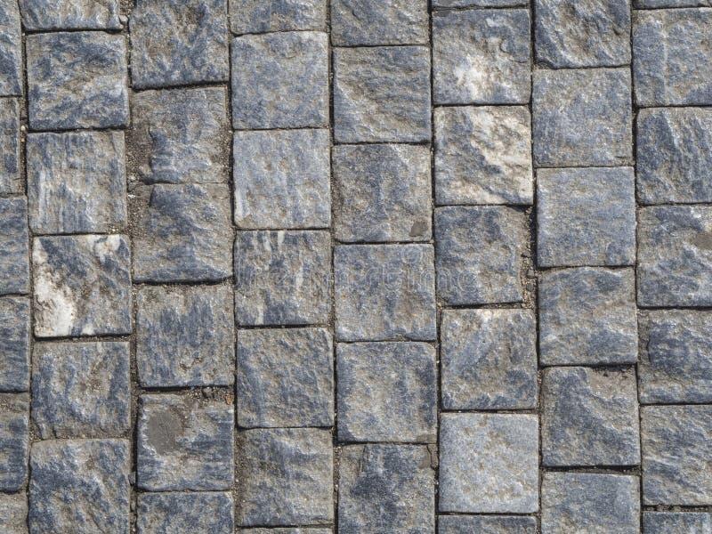 Pedra de pavimentação branca azul cinzenta da pedra de Praga imagens de stock royalty free