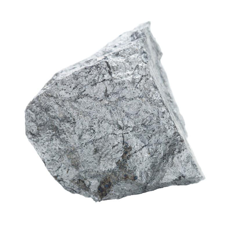 Pedra do Cobaltite isolada no branco foto de stock royalty free