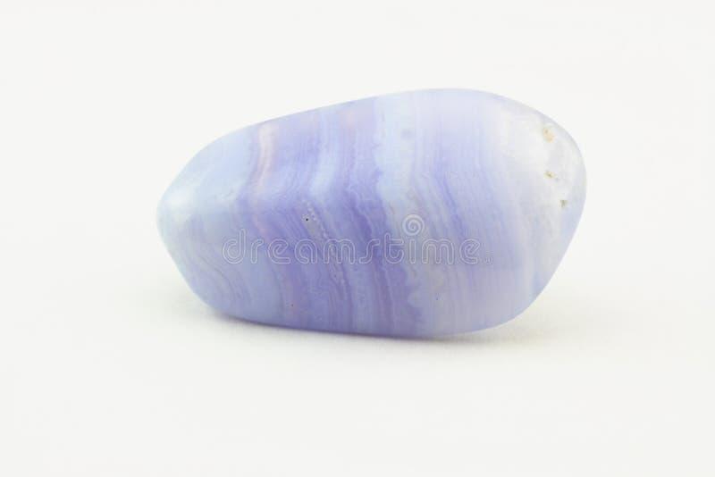 Pedra do nascimento da ágata de Bluelace. fotos de stock