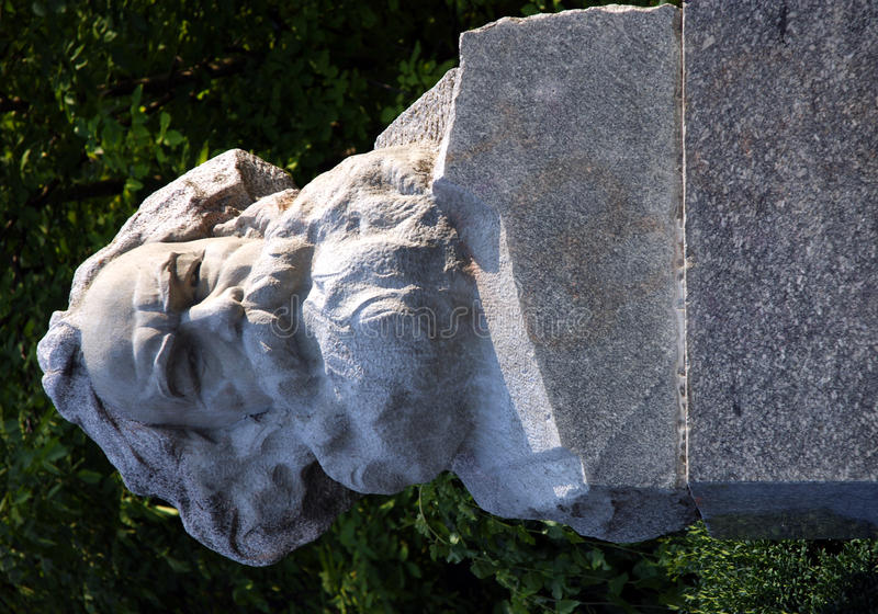 Pedra do peito de Karl Marx fotos de stock royalty free