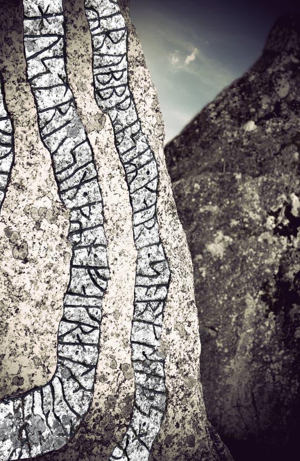 Pedra do Rune fotografia de stock royalty free