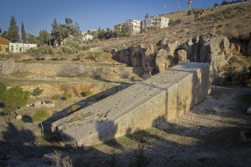Pedra em Baalbek Líbano imagem de stock