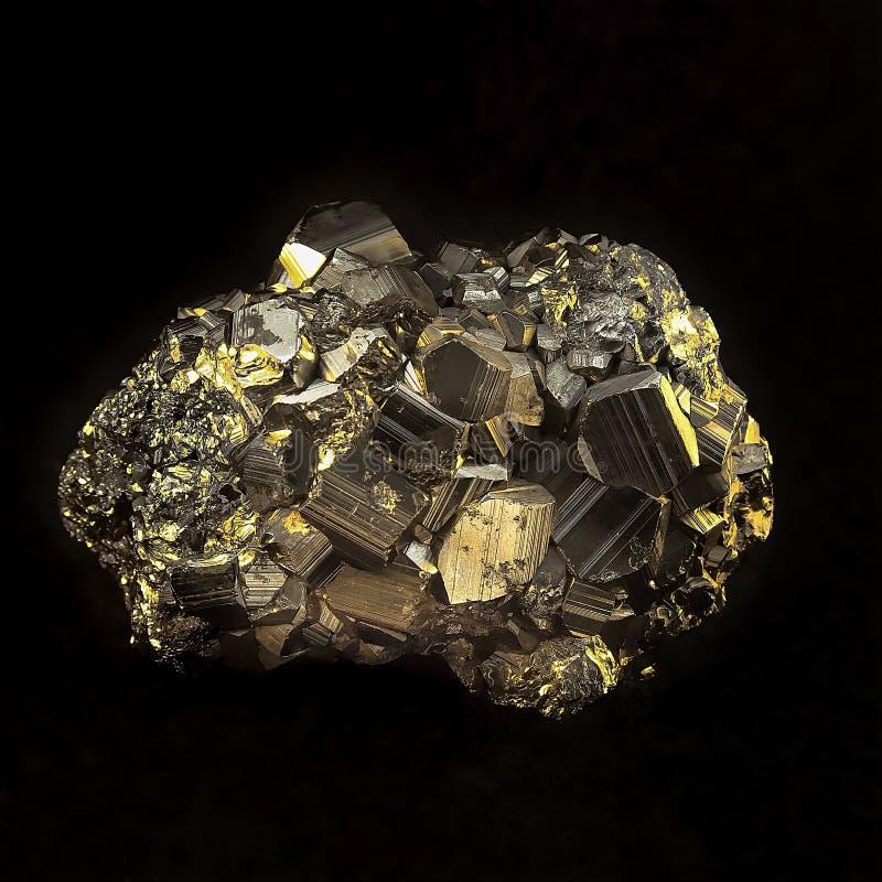 Pedra Geological da pirite fotografia de stock royalty free