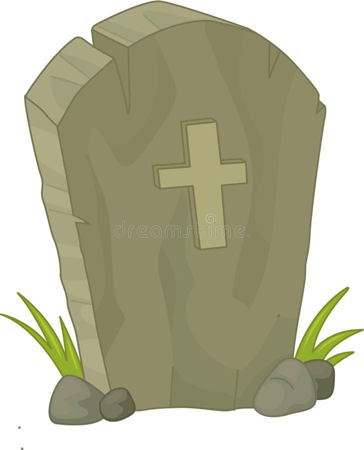 Pedra grave ilustração do vetor