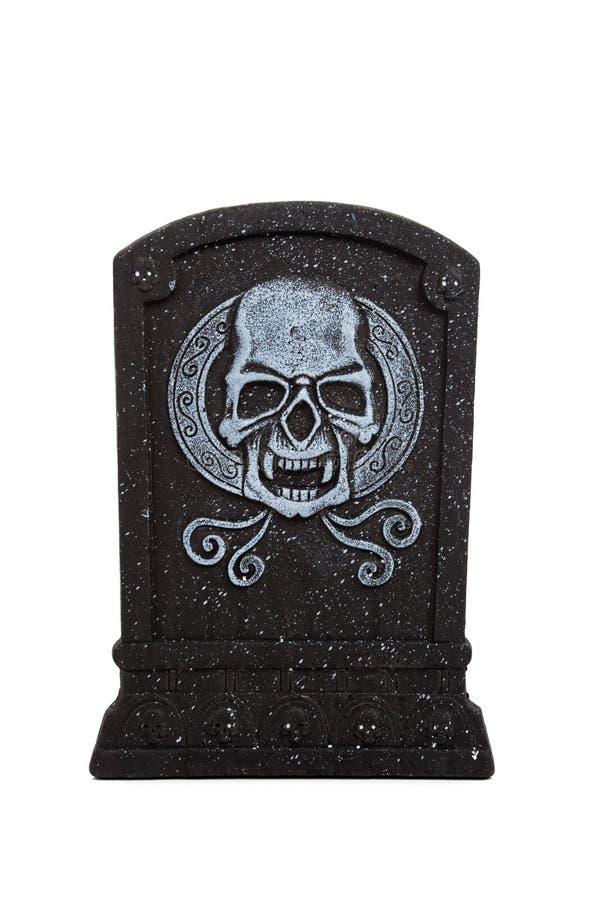 Pedra grave de Halloween em um fundo branco fotos de stock