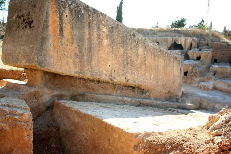 A pedra a maior no mundo, Baalbek, Líbano, Médio Oriente foto de stock royalty free