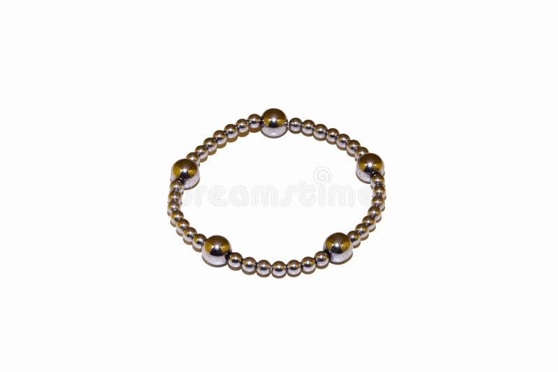Pedra natural do bracelete do hematita imagens de stock royalty free