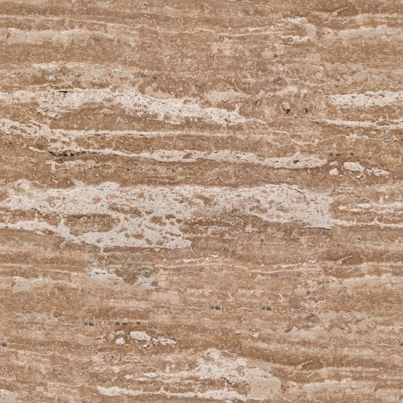 Pedra natural do fundo do travertino Textura quadrada sem emenda, t foto de stock