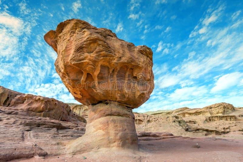 Pedra original no parque Geological Timna fotografia de stock royalty free
