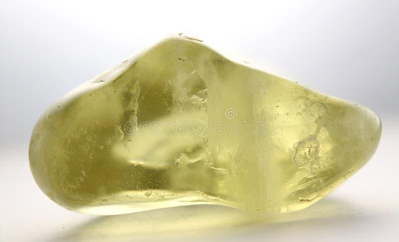 Pedra preciosa citrina imagem de stock royalty free