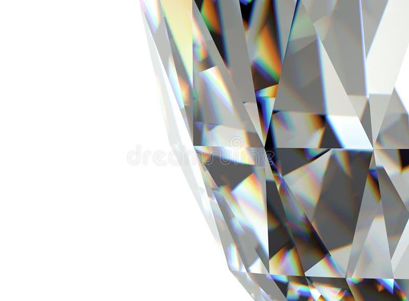 Pedra preciosa da joia facet ilustração do vetor