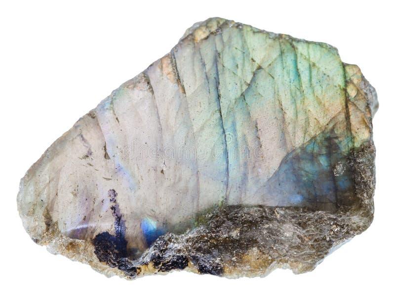Pedra preciosa da labradorite com superfície lustrada imagens de stock royalty free