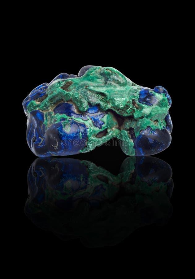Pedra preciosa de Azurite, carbonato de cobre, significando imagens de stock