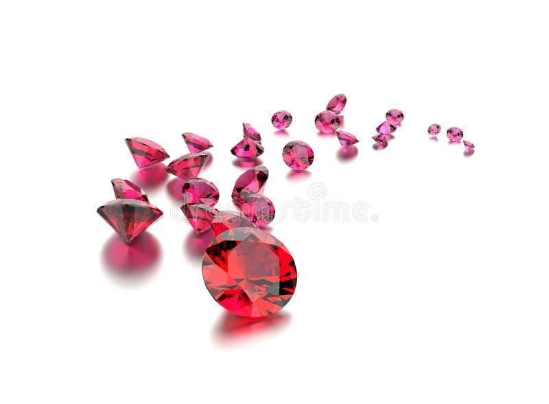 Pedra preciosa do rubi Fundo preto da jóia da tela do ouro e da prata fotos de stock