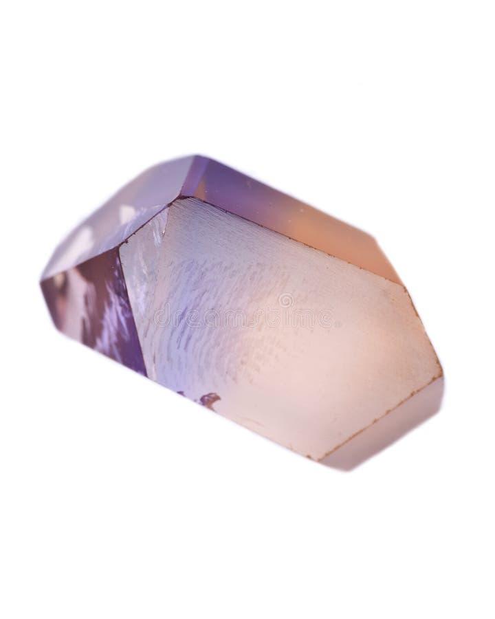 Pedra preciosa natural do ametrine do corte de Bolívia fotografia de stock royalty free