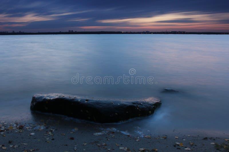A pedra sozinha fotografia de stock