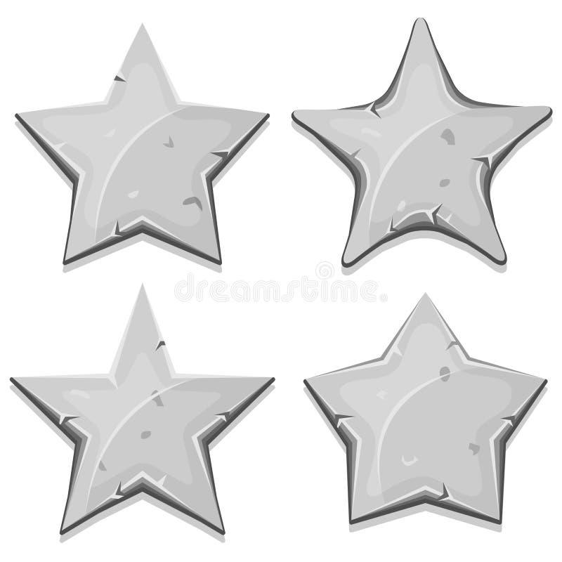 A pedra Stars ícones para o jogo de Ui ilustração royalty free