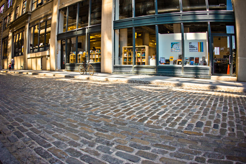 Pedra Streeet de Dumbo Brooklyn foto de stock royalty free