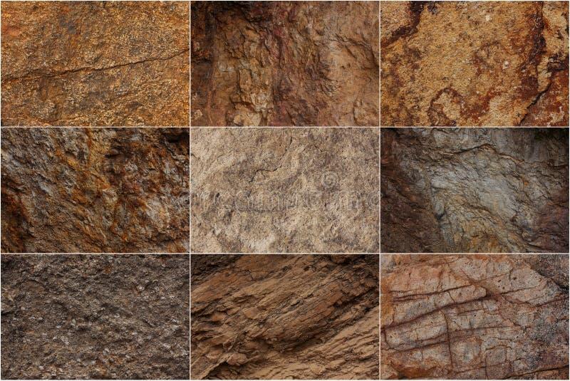 A pedra surge com texturas diferentes foto de stock royalty free