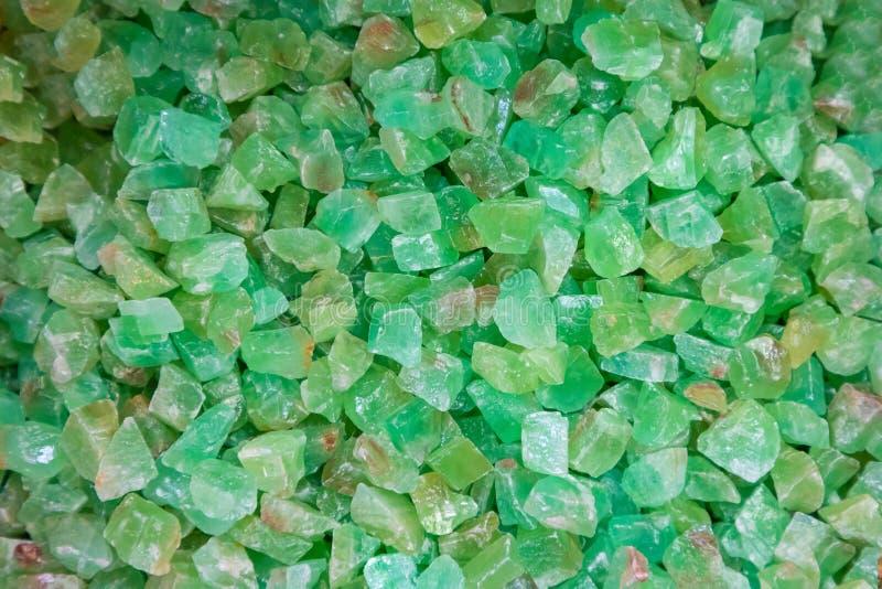 Pedra verde abstrata de quartzo do close-up foto de stock