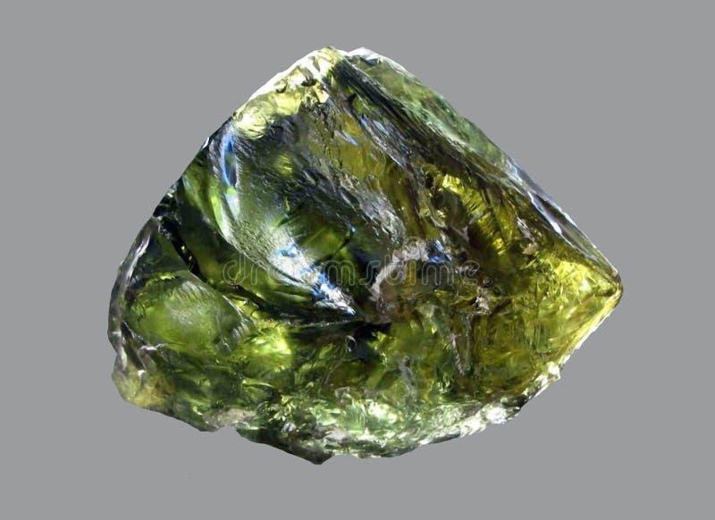 Pedra verde preciosa de Beryl fotografia de stock