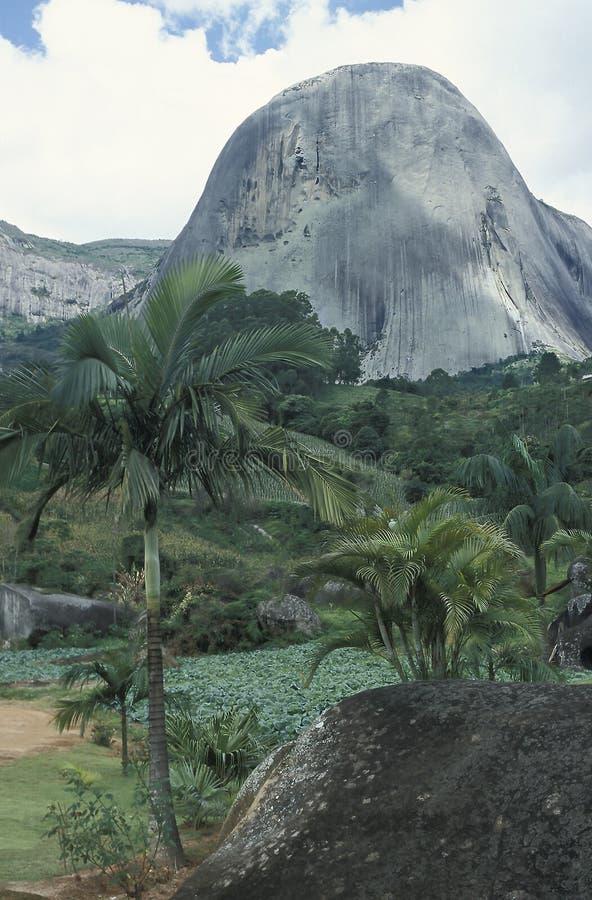 Pedraen Azul (blå sten) i tillståndet av Espirito Santo, Braz arkivbilder