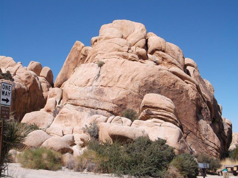 Pedras únicas no parque nacional joshua fotos de stock royalty free