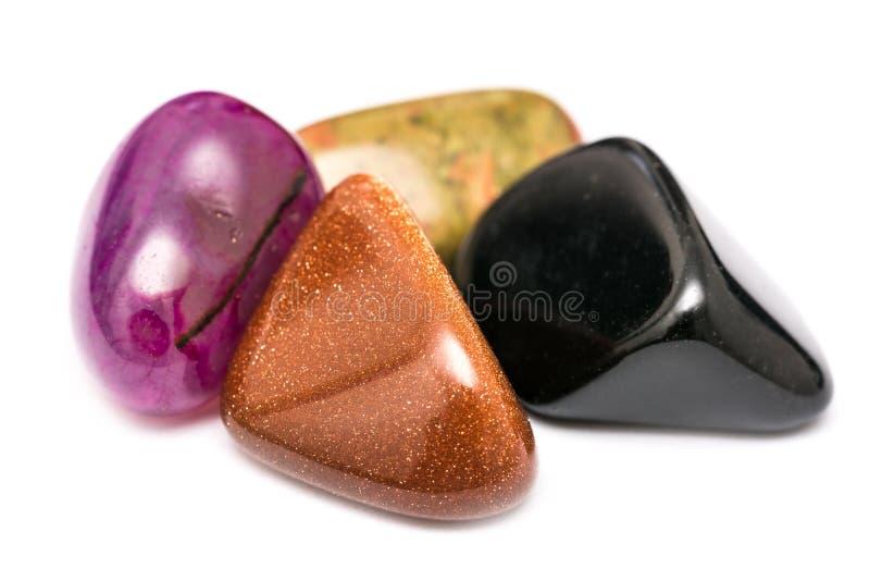 Pedras brilhantes semipreciosas naturais fotos de stock