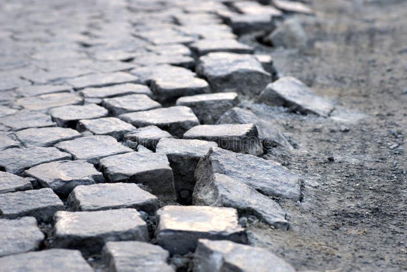 Pedras cúbicas da rua fotografia de stock