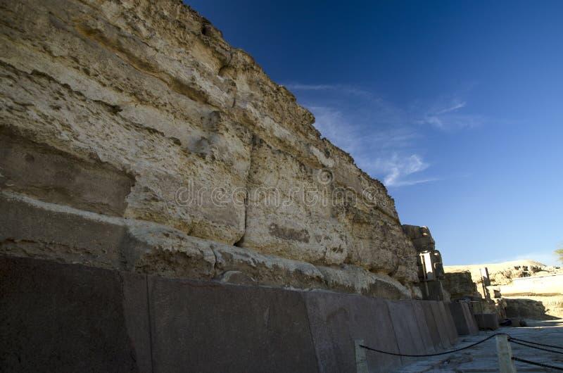 Pedras da grande pirâmide de Giza (Khufu, Cheops) imagens de stock royalty free