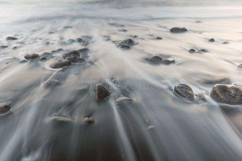 Pedras da praia de Madeira imagens de stock