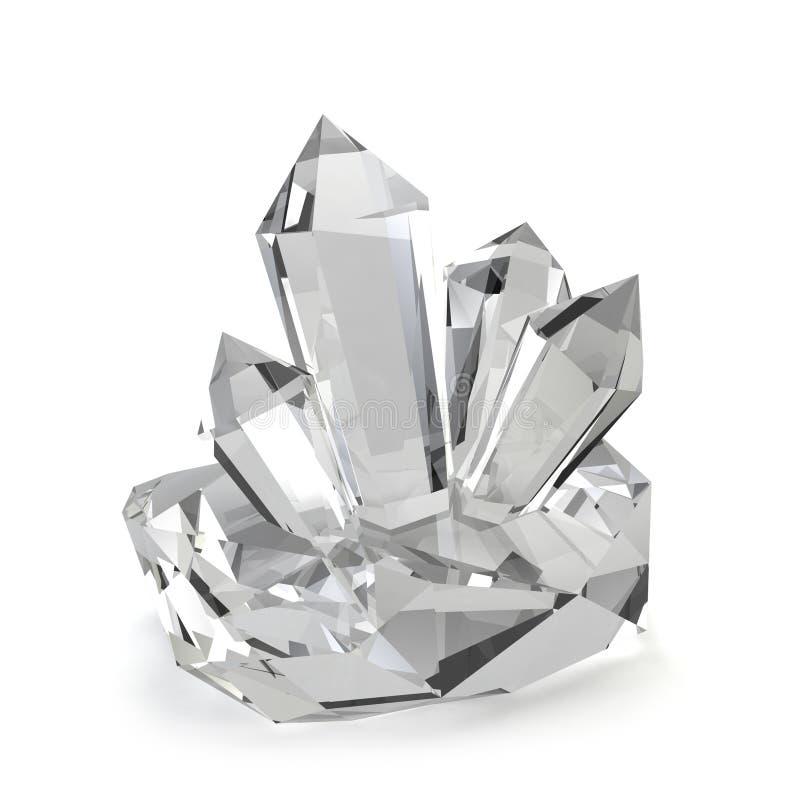 Pedras de cristal ilustração royalty free