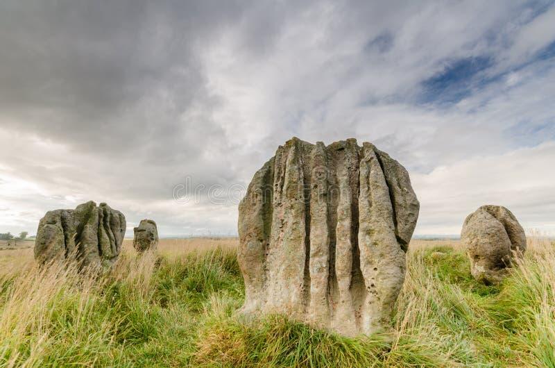 Pedras de Duddo fotos de stock