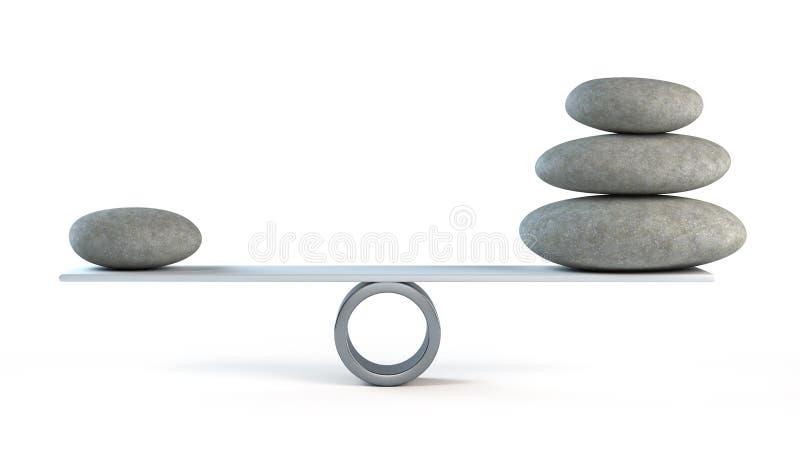 Pedras de equilíbrio ilustração stock