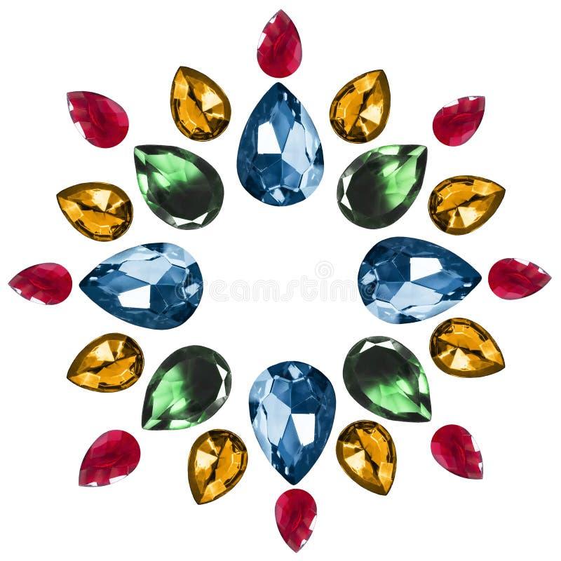 Pedras de gema isoladas fotografia de stock