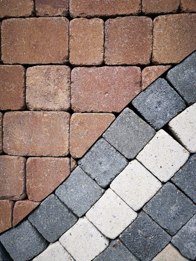 Pedras de pavimentação - cores diferentes imagem de stock royalty free