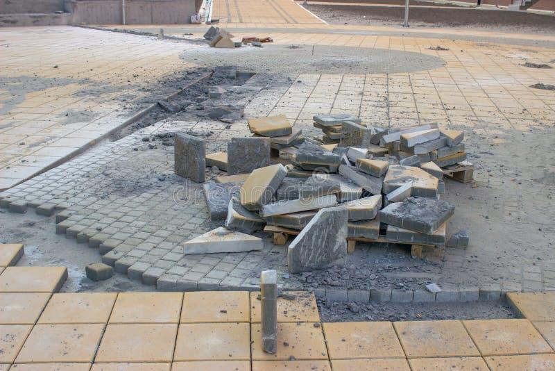 Pedras de pavimentação das passagens imagens de stock