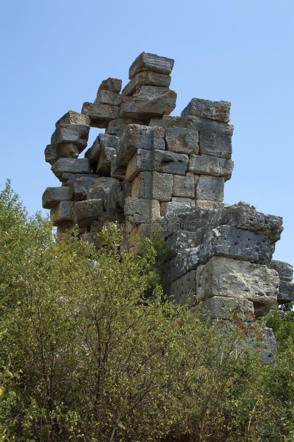 Pedras de queda fotografia de stock