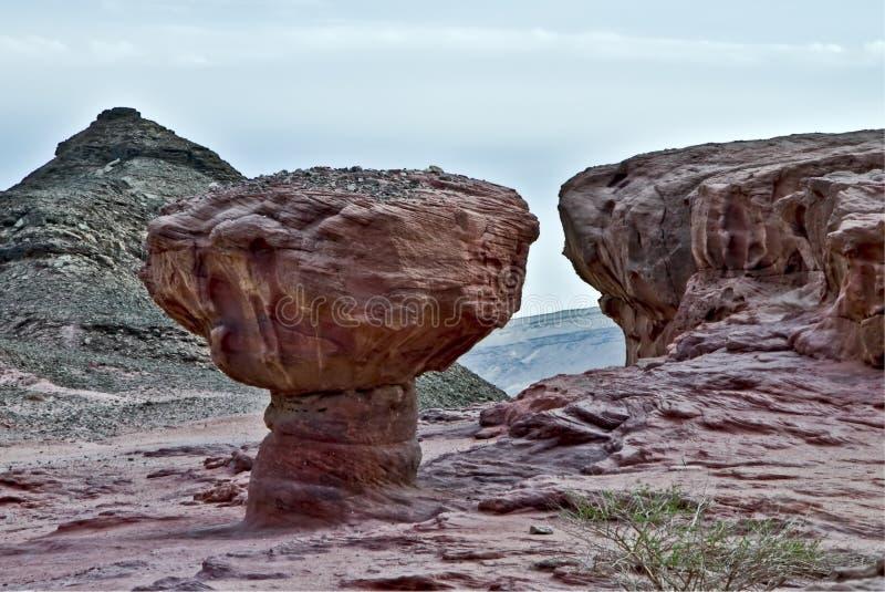 Pedras do parque de Timna fotos de stock royalty free
