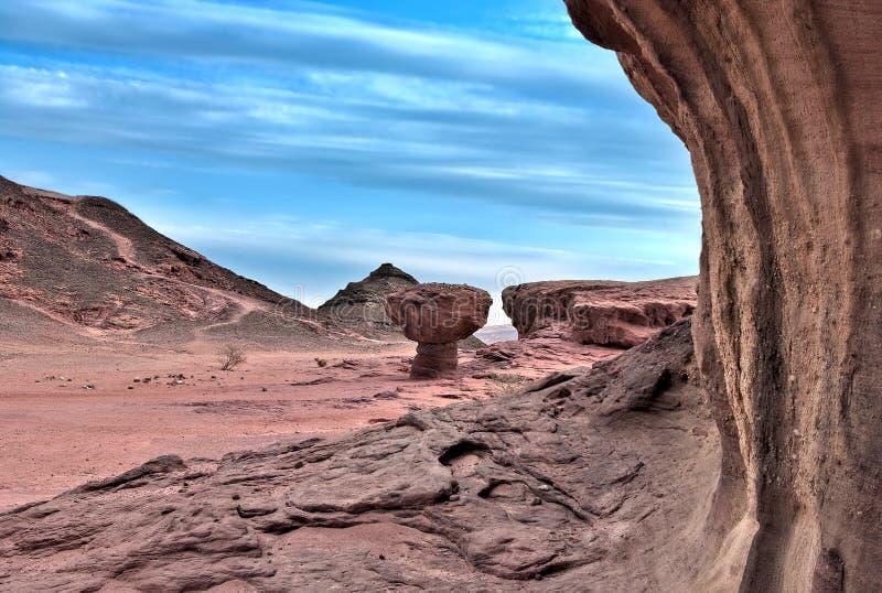Pedras do parque de Timna fotografia de stock royalty free