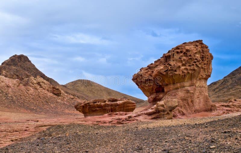 Pedras do parque de Timna fotografia de stock
