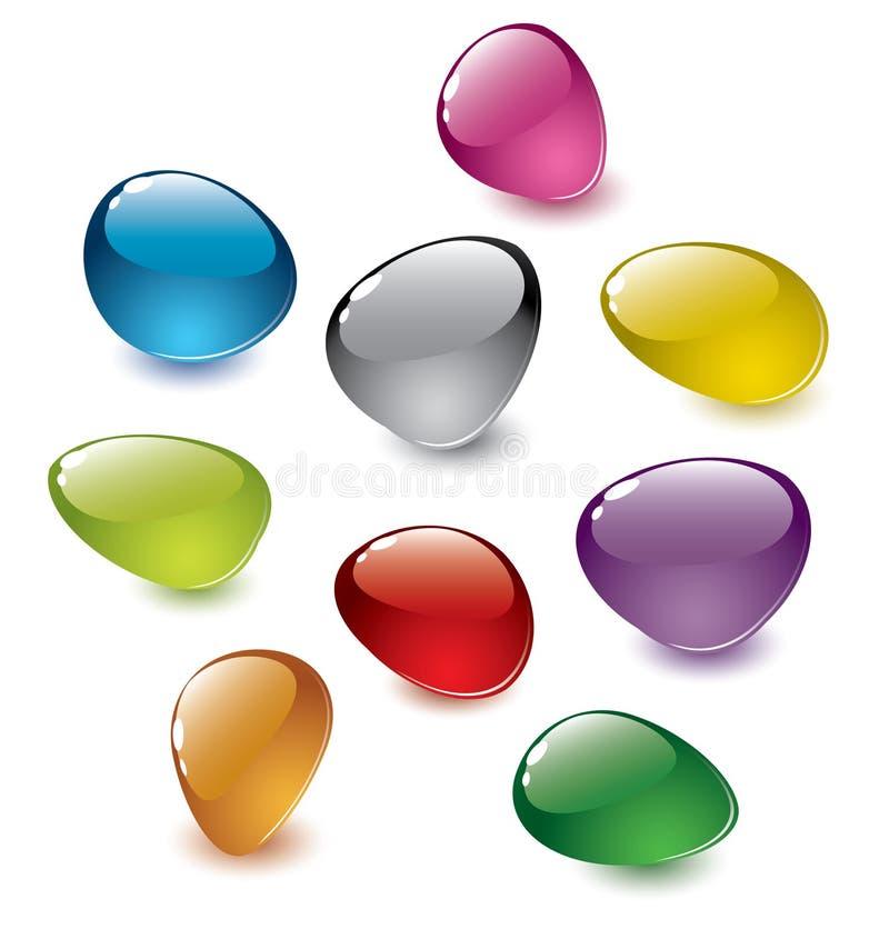 Pedras do vidro do vetor ilustração do vetor