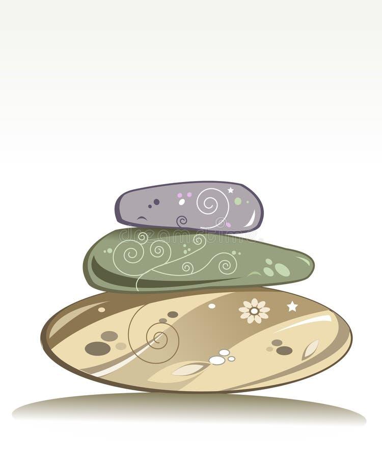 Pedras do Wellness ilustração stock