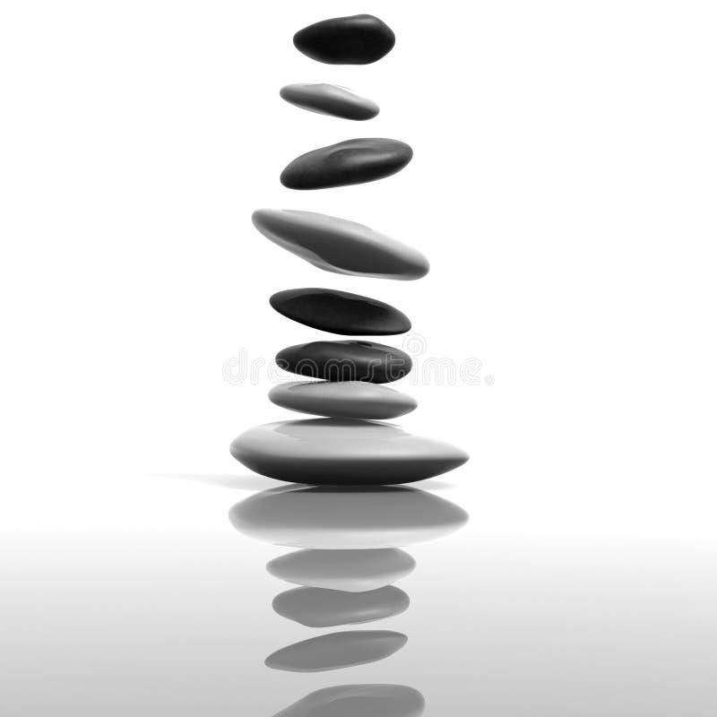 Pedras do zen ilustração stock