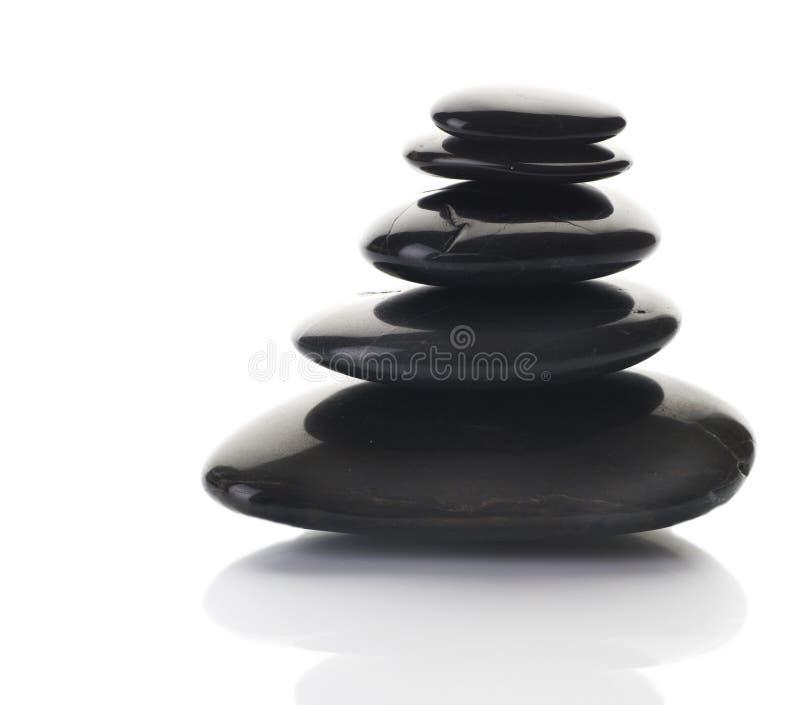 Pedras do zen ou dos termas fotografia de stock