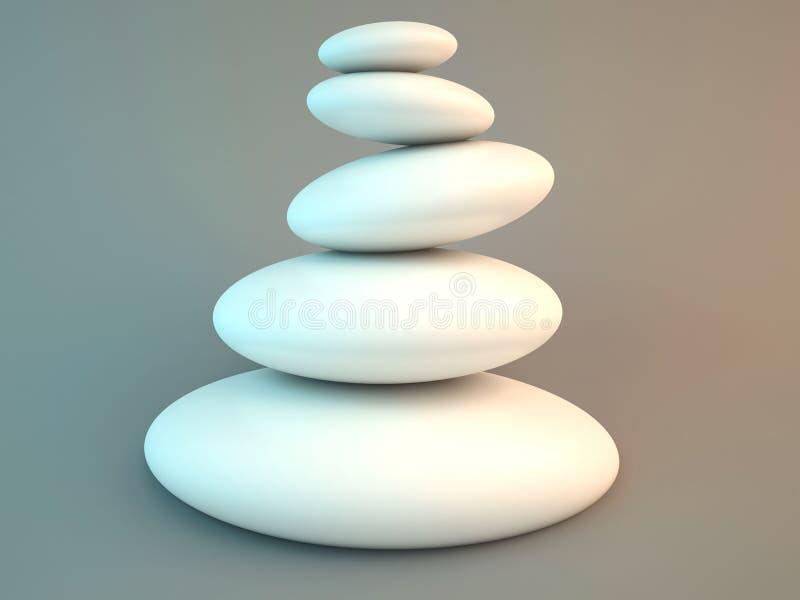 Pedras dos termas do zen ilustração royalty free