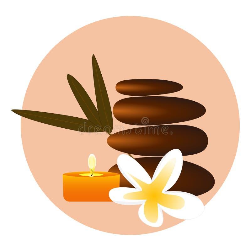 Pedras dos termas do zen ilustração do vetor